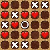 Tic Tac Toe wooden board generated seamless texture