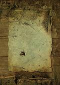 crusty wood parchment