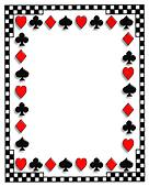 Playing Cards border Poker