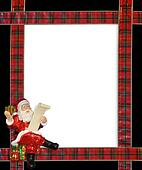 Christmas Santa ribbons border