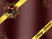 Christmas Border Ribbons gold