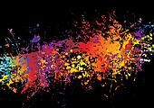 ink crash rainbow