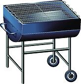 A gray barbeque grill