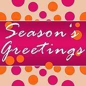 Seasons Greetings Peach Pink Circle