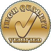 Golden quality seal