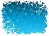 Grunge snowflake background