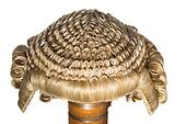 Court wig isolated