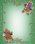 Christmas Cookies and Candy Border