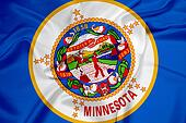 Waving Minnesota State Flag