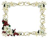 Christmas Frame Border White Poinse