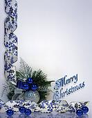 Christmas Background blue 3D text