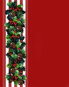 Christmas Border Holly Garland