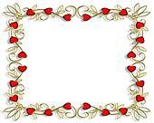 Valentine Hearts Frame 3D