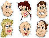 Smiling Face Fridge Magnet/Stickers #3