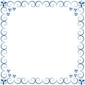 Decorative blue framework from curl