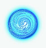 Blue waves and drops of water logo