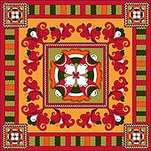 Russian traditional square ornamen