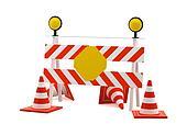 Reconstruction sign - road block