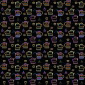 Tea cup and pots background