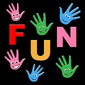 Kids Fun Indicates Joyful Happy And Jubilant