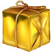 Gold Christmas Box
