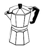 Coffee pot - Black and white