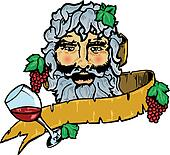 Bacchus or Dionysus the god of wine