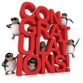 3d Penguin Congratulations