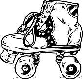 Retro Roller Boots Illust