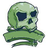 Tattoo style skull banner