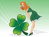 St Patricks Day pin up wi