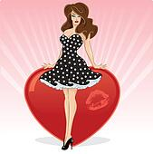 Sexy Valentines pin up wi