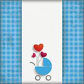 Vintage Blue Checked Cloth Boy Baby