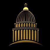 Golden Capitol building icon