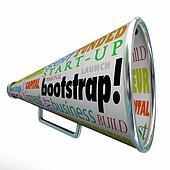 Bootstrap Bullhorn Megaphone Startup Launch Personal Funding Fin