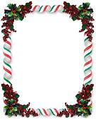 Christmas Border Ribbon Candy
