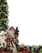 Christmas Border Victorian Santa