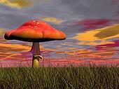 Fantasy mushroom - 3D render