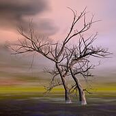 Fantasy trees - 3D render