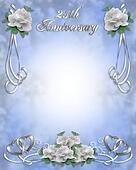 Wedding Anniversary Invitation 25 y