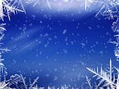 Blue Snow Winter Background 1