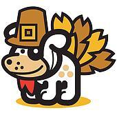Thanksgiving turkey dog p