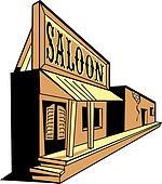 Western saloon cartoon of