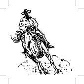 Rodeo rider western cowbo