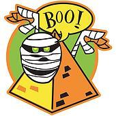Halloween mummy clip art
