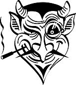 Devil Satan Evil Clip Art Graphic