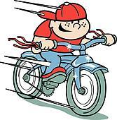 Boy on bike clip art