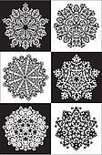 Royal snowflakes