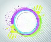 ink circle paint. illustration design