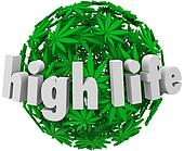 High Life Marijuana Sphere Ball Stoned Drug Use
